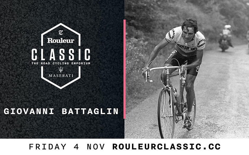 Meet Giovanni Battaglin at Rouleur Classic