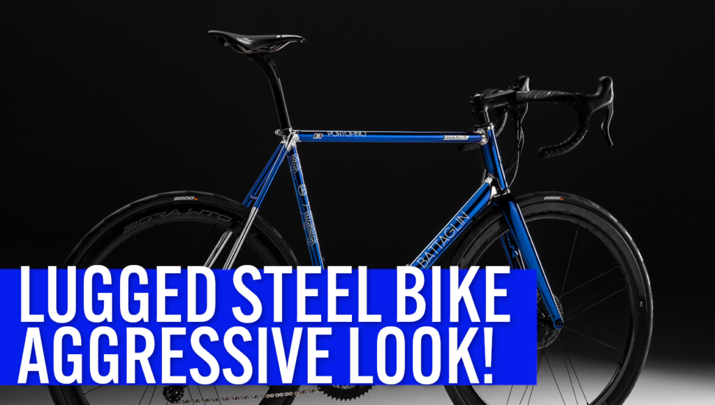 [VIDEO] This STEEL BICYCLE WITH LUGS has an AGGRESSIVE RACING LOOK!