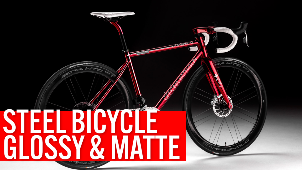 [VIDEO] PAINTING a STEEL BICYCLE frame: this CUSTOM BUILD combines GLOSSY and MATTE paints!