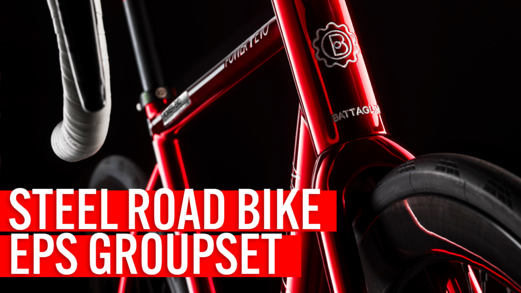 [VIDEO] STEEL ROAD BIKE with Campagnolo EPS – Fully internal cable routing!