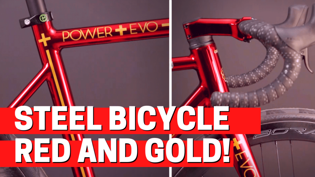 [VIDEO] Painting a custom STEEL BICYCLE FRAME: RED cromovelato PAINT with GOLDEN details!