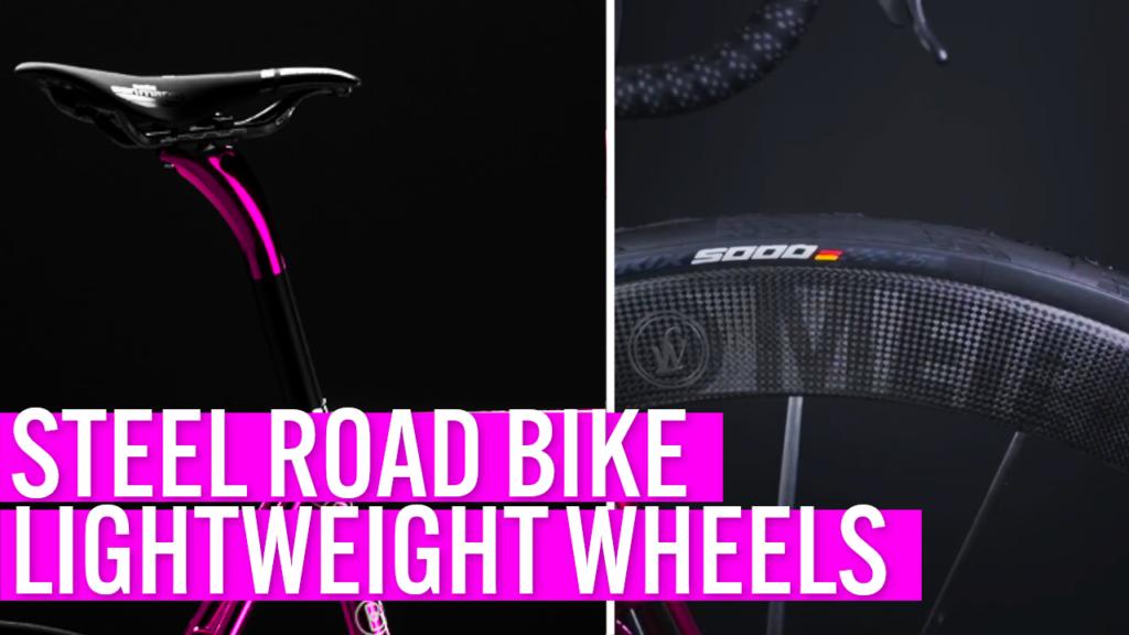 [VIDEO] STEEL ROAD BIKE featuring ULTRA LIGHT carbon wheels: the Lightweight Meilenstein EVO Schwarz Edition!